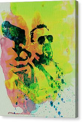 Walter Canvas Print by Naxart Studio