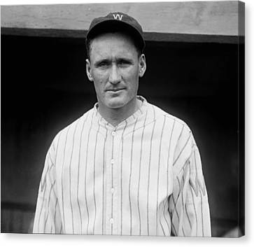 Old Pitcher Canvas Print - Walter Johnson 1925 by Mountain Dreams