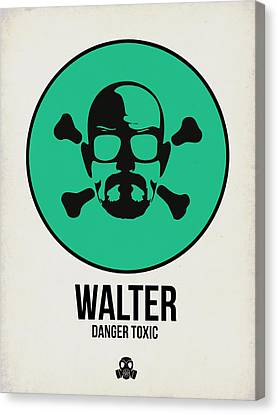 Walter Poster 1 Canvas Print by Naxart Studio