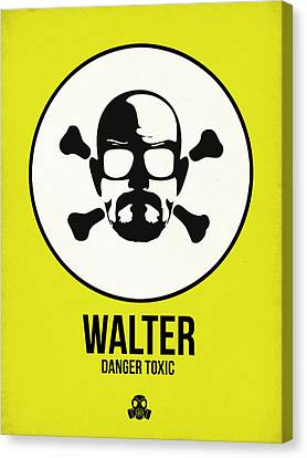 Walter Poster 2 Canvas Print by Naxart Studio