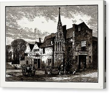 Waltham Cross, Uk Canvas Print by Litz Collection
