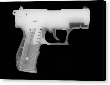 Walther P22 Reverse Canvas Print by Ray Gunz