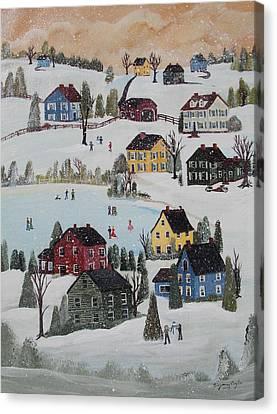 Waltzing Snow Canvas Print