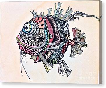 Wanda The Fish Canvas Print by Iya Carson
