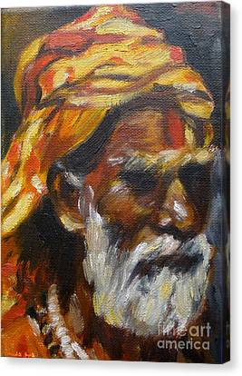 Canvas Print featuring the painting Wandering Sage Small by Mukta Gupta