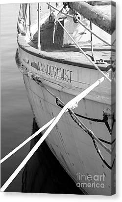 Wanderlust Black And White Canvas Print by Amanda Barcon