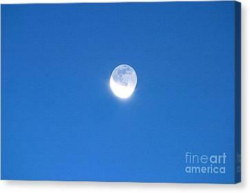 Waning Moon Canvas Print - Waning Crescent Moon by John Chumack