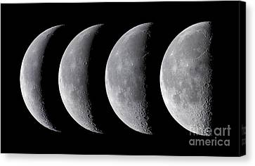 Waning Moon Series Canvas Print by Alan Dyer