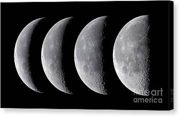 Waning Moon Canvas Print - Waning Moon Series by Alan Dyer