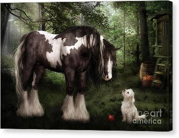 Horse Lover Canvas Print - Want To Play by Shanina Conway