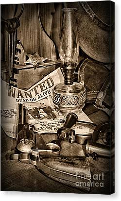 Law Enforcement Canvas Print - Wanted Dead Or Alive by Paul Ward