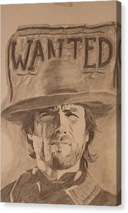 Wanted Canvas Print by Michael McGrath
