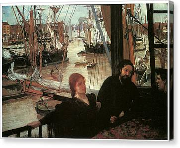 Wapping Canvas Print by James Abbott McNeill Whistler
