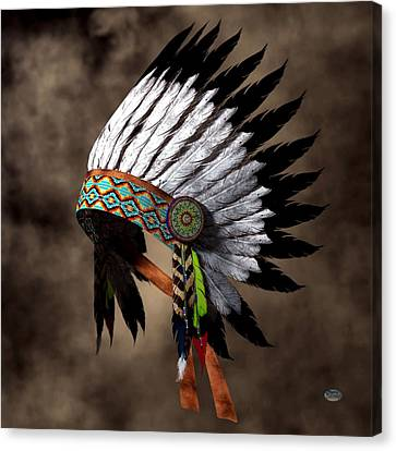 Hopi Canvas Print - War Bonnet by Daniel Eskridge
