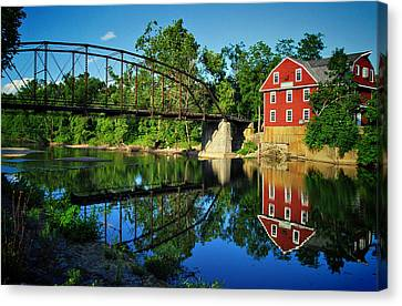 War Eagle Mill And Bridge Canvas Print by Gregory Ballos