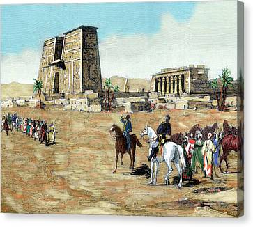 War In Egypt The Emissaries Of Arabi Canvas Print by Prisma Archivo