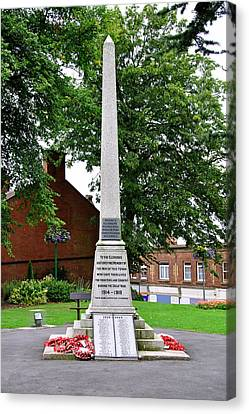 War Memorial - Belper Canvas Print by Rod Johnson