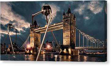War Of The Worlds London Canvas Print by Peter Chilelli