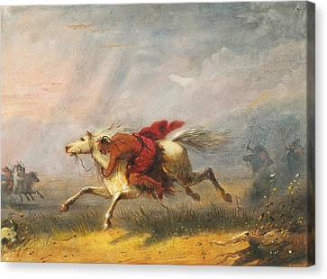 War Path Canvas Print by Alfred Jacob Miller