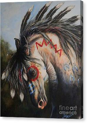 War Pony #3 Chieftan Canvas Print by Amanda Hukill