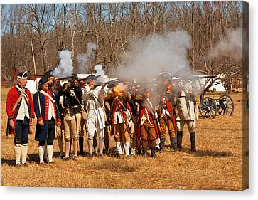 War - Revolutionary War - The Musket Drill Canvas Print by Mike Savad