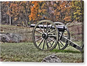 Canvas Print featuring the photograph War Thunder - 4th New York Independent Battery Crawford Avenue Gettysburg by Michael Mazaika