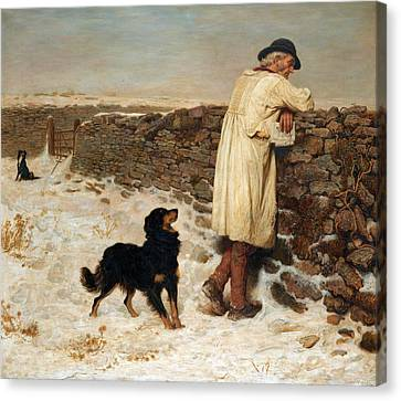 Briton Riviere Canvas Print - War Time by Briton Riviere