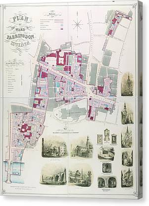Ward Of Farringdon Canvas Print by British Library