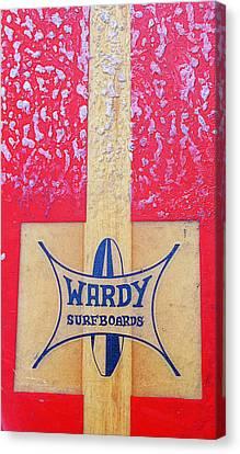 Wardy Surfboards Canvas Print by Ron Regalado