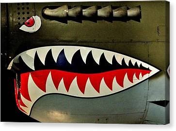 P-40 Canvas Print - Warhawk by Benjamin Yeager