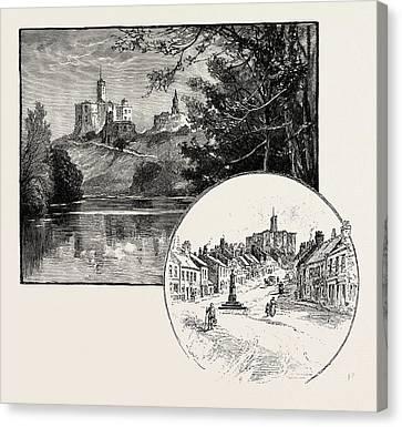 Warkworth Castle Left Canvas Print by English School