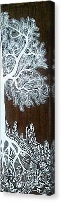 Warli Art Canvas Print by Mayur Vayeda