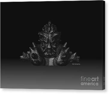 Canvas Print featuring the sculpture Warlord by R Muirhead Art