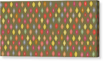 Warm Little Ikat Diamonds Canvas Print by Sharon Turner