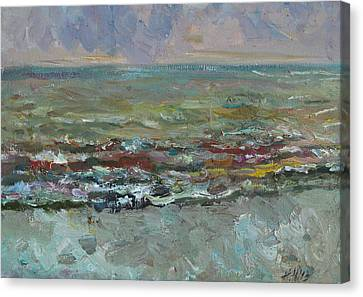 Warm Sea Canvas Print by Juliya Zhukova