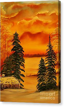 Warm Snow-original Sold- Buy Giclee Print Nr 34 Of Limited Edition Of 40 Prints  Canvas Print