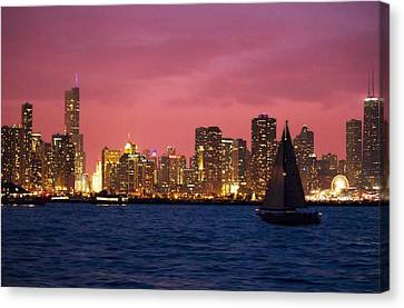 Warm Summer Night Chicago Style Canvas Print