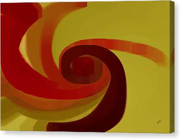 Warm Swirl Canvas Print by Ben and Raisa Gertsberg