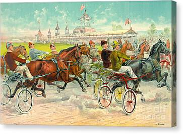 Warm-up Lap 1893 Canvas Print by Padre Art