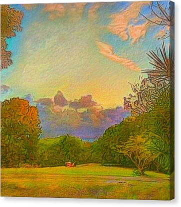 Warm View Of South Shore  - Square Canvas Print by Lyn Voytershark