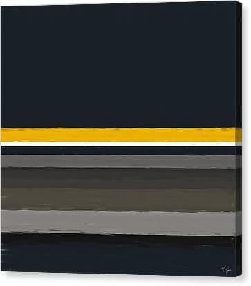 Black And Yellow Canvas Print - Warmed By The Sun by Lourry Legarde