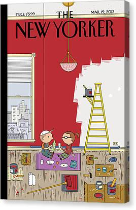 Living-room Canvas Print - Warmth by Ivan Brunetti