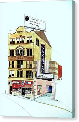 Warner Theater Canvas Print by William Renzulli