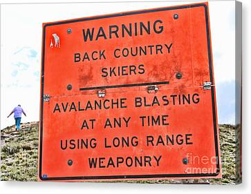 Warning Canvas Print