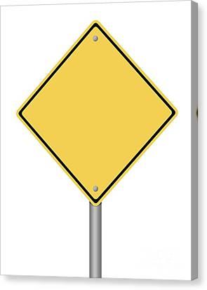 Warning Sign Canvas Print by Henrik Lehnerer