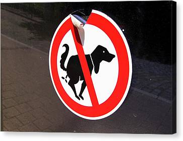 Warning To Dog Owners Canvas Print by Mark Williamson