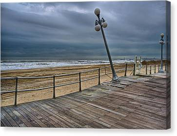 Warped Boardwalk Canvas Print by Mike Horvath