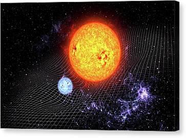 Warped Space Time Canvas Print by Take 27 Ltd