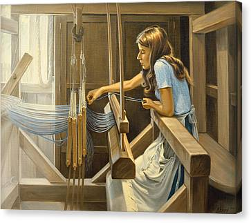 Warping The Loom  Canvas Print by Paul Krapf