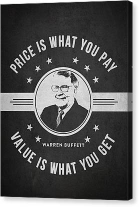 Warren Buffet - Charcoal Canvas Print